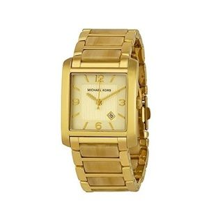 Michael Kors Frenchy Champagne Dial Horn Watch EUC